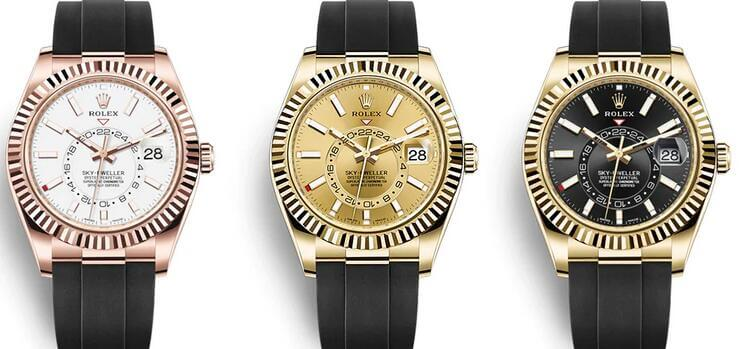 2020 Rolex Sky-Dweller fake watches With Oysterflex